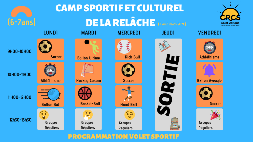 Copie de Programmation Sports (8-12ans)